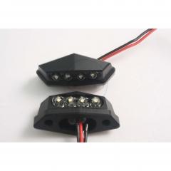 Number plate light JMP LED black , juodos spalvos
