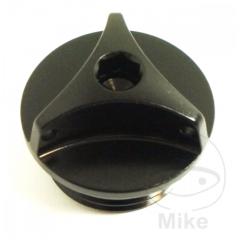 Oil filler cap PRO BOLT aluminium , juodos spalvos