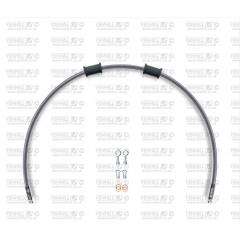 Priekinės stabdžių žarnelės komplektas Venhill POWERHOSEPLUS MZ-2001F (1 žarnelė rinkinyje) clear hoses, chromed fittings