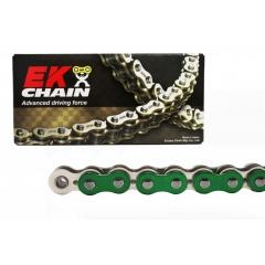 PREMIUM grandinė su QX tipo riebokšliais EK 520 SRX2 , 106 narelių ilgio Metallic Green