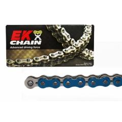 PREMIUM grandinė su QX tipo riebokšliais EK 520 SRX2 , 112 narelių ilgio Metallic Blue