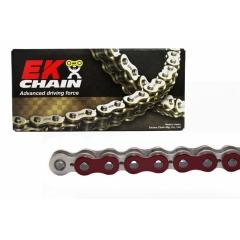 PREMIUM grandinė su QX tipo riebokšliais EK 520 SRX2 , 120 narelių ilgio Metallic Red