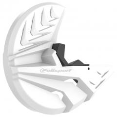 Priekinio stabdžų disko ir šakių apsauga POLISPORT PERFORMANCE balta/juoda
