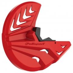 Priekinio stabdžų disko ir šakių apsauga POLISPORT PERFORMANCE , raudonai juodos spalvos