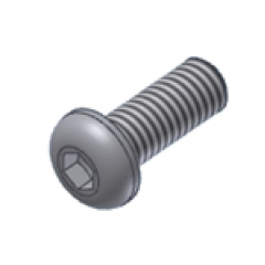 Screw MIVV 50.72.026.1 M6 X 8 (Button)