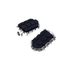 Spare rubbers PUIG ENDURO 8133U , juodos spalvos
