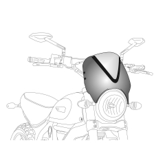 Spare screen PUIG RETROVISIONS 1517N , juodos spalvos
