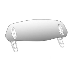 Spare visor PUIG 6871W clip-on transparent