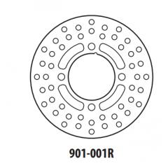 Stabdžių diskas GOLDFREN 901-001R galinis 190,7 mm