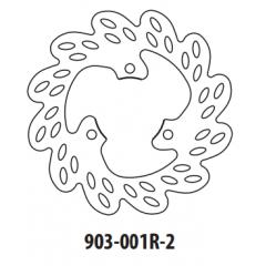 Stabdžių diskas GOLDFREN 903-001R-2 galinis 190 mm