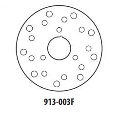 Stabdžių diskas GOLDFREN 913-003F priekinių 154 mm