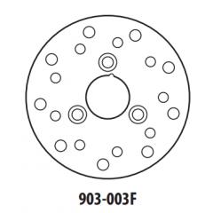 Stabdžių diskas GOLDFREN 903-003F priekinių 155 mm