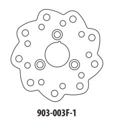Stabdžių diskas GOLDFREN 903-003F-1 priekinių 155 mm