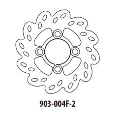 Stabdžių diskas GOLDFREN 903-004F-2 priekinių 160,6 mm
