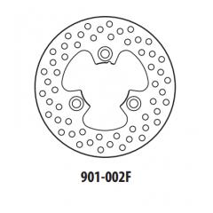 Stabdžių diskas GOLDFREN 901-002F priekinių 170 mm