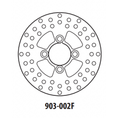 Stabdžių diskas GOLDFREN 903-002F priekinių 180,5 mm