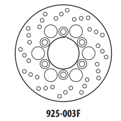Stabdžių diskas GOLDFREN 925-003F priekinių 180 mm