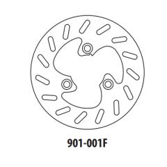 Stabdžių diskas GOLDFREN 901-001F priekinių 190 mm
