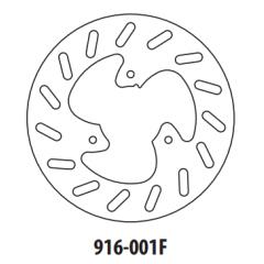 Stabdžių diskas GOLDFREN 916-001F priekinių 190 mm