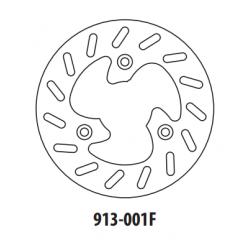 Stabdžių diskas GOLDFREN 913-001F priekinių 190 mm