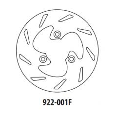 Stabdžių diskas GOLDFREN 922-001F priekinių 199,8 mm