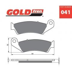 Stabdžių trinkelės GOLDFREN 041 K1