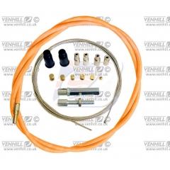 Universalus droselio troso komplektas Venhill , 1,35 m ilgio (dvitakčiams varikliams) , oranžinės spalvos