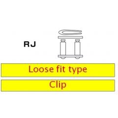 Užspaudžiamo tipo grandinės jungtis D.I.D Chain 520DZ2 RJ , auksas-juoda spalvos