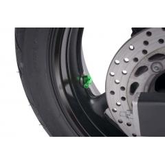 Valves for tubeless wheels PUIG green D 11mm