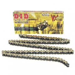 VX series X-Ring chain D.I.D Chain 530VX , 122 narelių ilgio , auksas-juoda spalvos