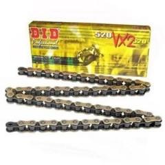 VX series X-Ring chain D.I.D Chain 520VX2(VX3) , 118 narelių ilgio , auksas-juoda spalvos