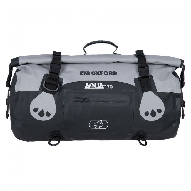 Krepšiai ir kuprinės Oxford Aqua T-70 Roll Bag Grey/Black