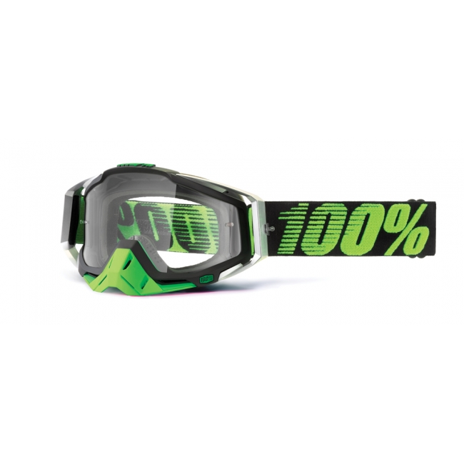 OFF-ROAD AKINIAI 100% RACECRAFT METAL / LIME CLEAR