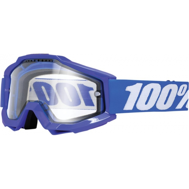 OFF-ROAD AKINIAI 100% ACCURI REFLEX BLUE ENDURO CLEAR