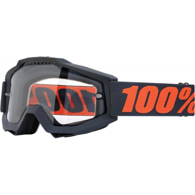 OFF-ROAD AKINIAI 100% ACCURI GUNMETAL ENDURO CLEAR