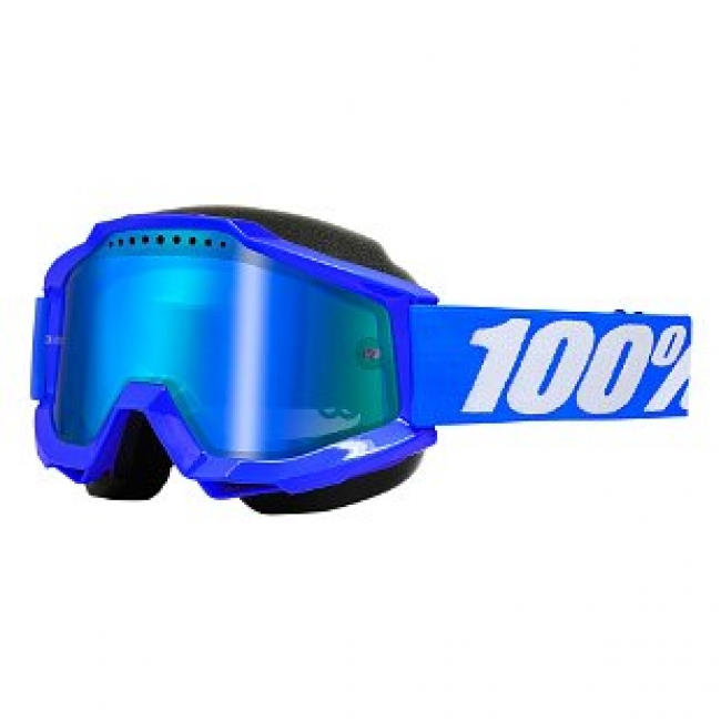 OFF-ROAD AKINIAI 100% ACCURI SNOW BLUE MIRROR