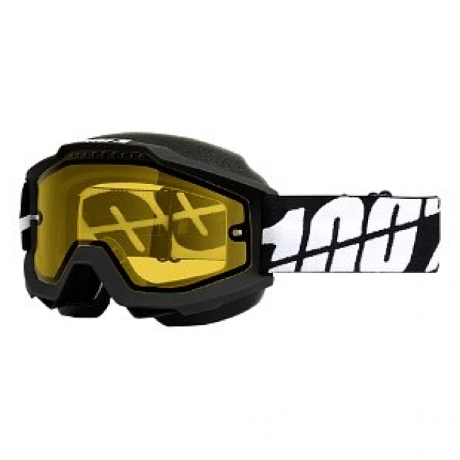OFF-ROAD AKINIAI 100% ACCURI SNOW BLACK CLEAR YELLOW