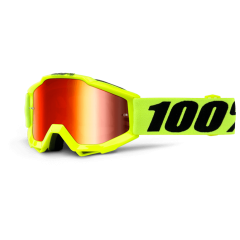 VAIKIŠKI OFF-ROAD AKINIAI 100% ACCURI JUNIOR FLUO YELLOW MIRROR