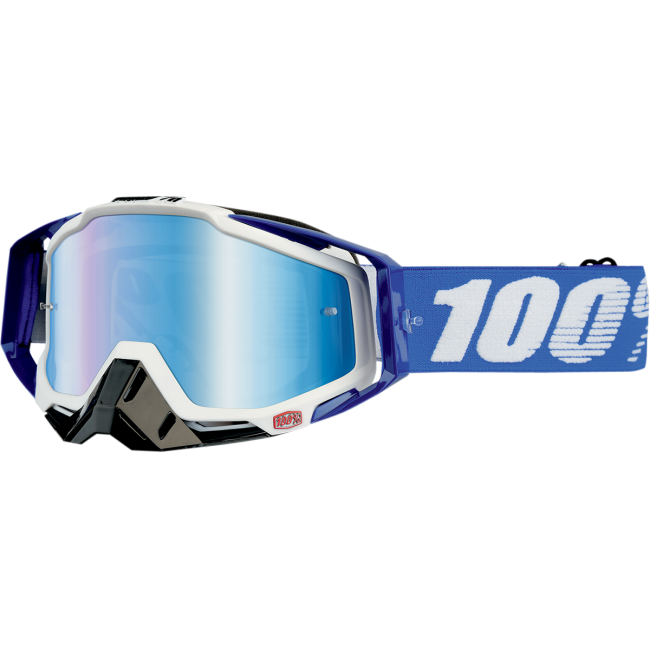 OFF-ROAD AKINIAI 100% RACECRAFT MIRROR LENS COBALT BLUE