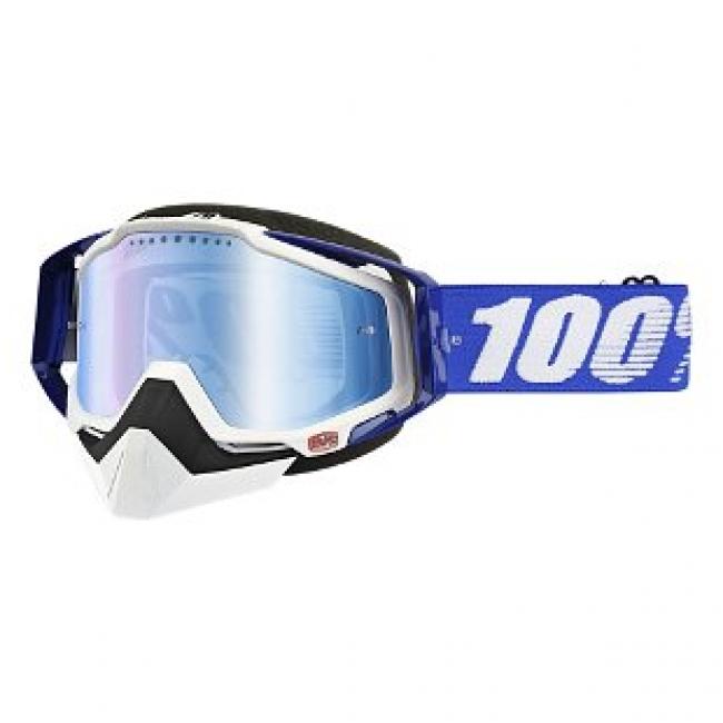 OFF-ROAD AKINIAI 100% RACECRAFT SNOW BLUE MIRROR BLUE