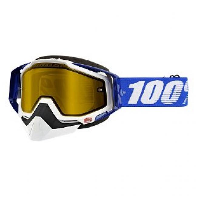 OFF-ROAD AKINIAI 100% RACECRAFT SNOW BLUE MIRROR YELLOW