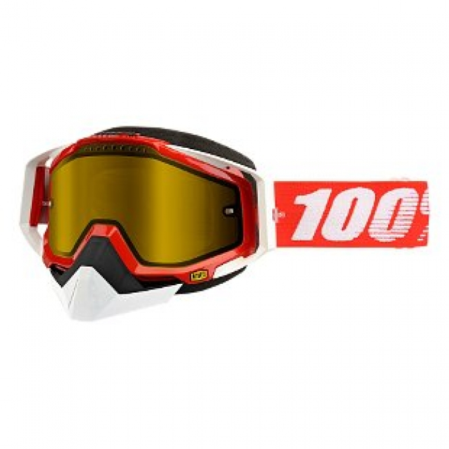 OFF-ROAD AKINIAI 100% RACECRAFT SNOW RED MIRROR YELLOW