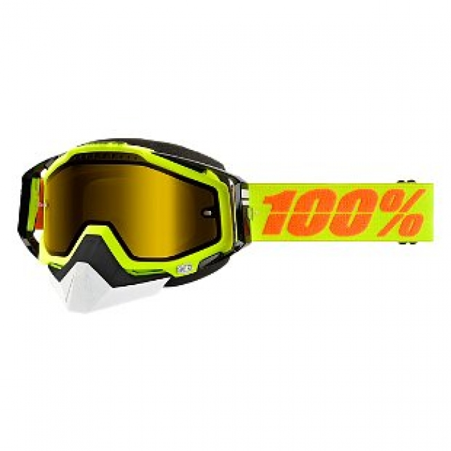 OFF-ROAD AKINIAI 100% RACECRAFT SNOW YELLOW MIRROR YELLOW