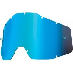VAIKIŠKŲ OFF-ROAD AKINIŲ LEŠIS 100% BLUE MIRROR