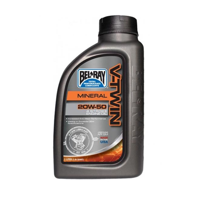 Variklio tepalas Bel-Ray V-TWIN MINERAL 20W-50 955 ml