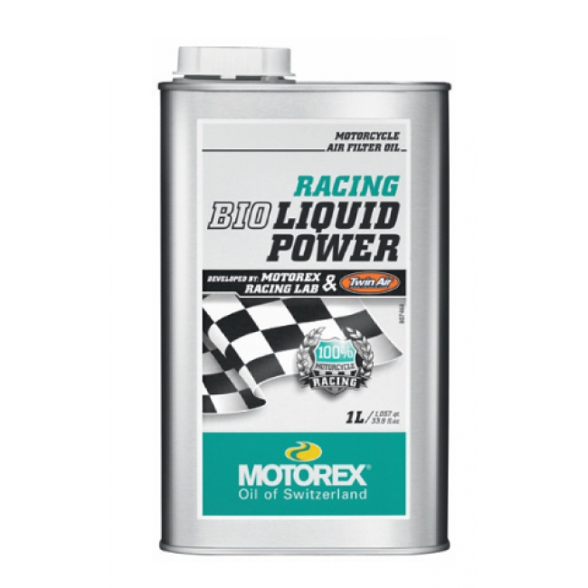 Oro filtro tepalas MOTOREX RACING BIO LIQUID POWER 1L