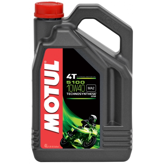 Semi-synthetic Oil MOTUL 5100 ESTER 4T 10W-40 4L