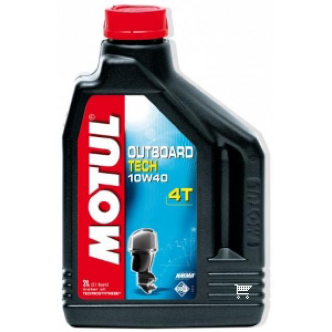 Pusiau sintetinis Tepalas MOTUL OUTBOARD TECH 4T 10W-40 2L