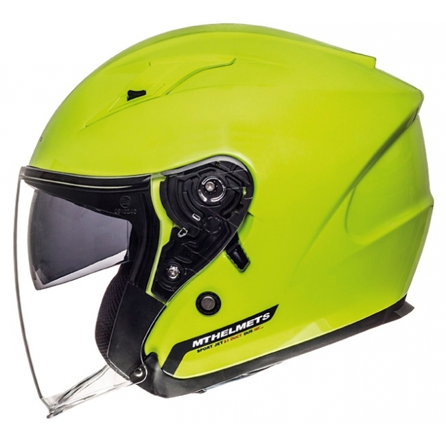 ATVIRAS ŠALMAS MT HELMETS AVENUE SOLID YELLOW