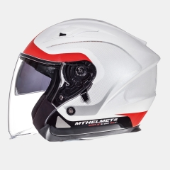 ATVIRAS ŠALMAS MT HELMETS AVENUE CROSSROAD WHITE/RED